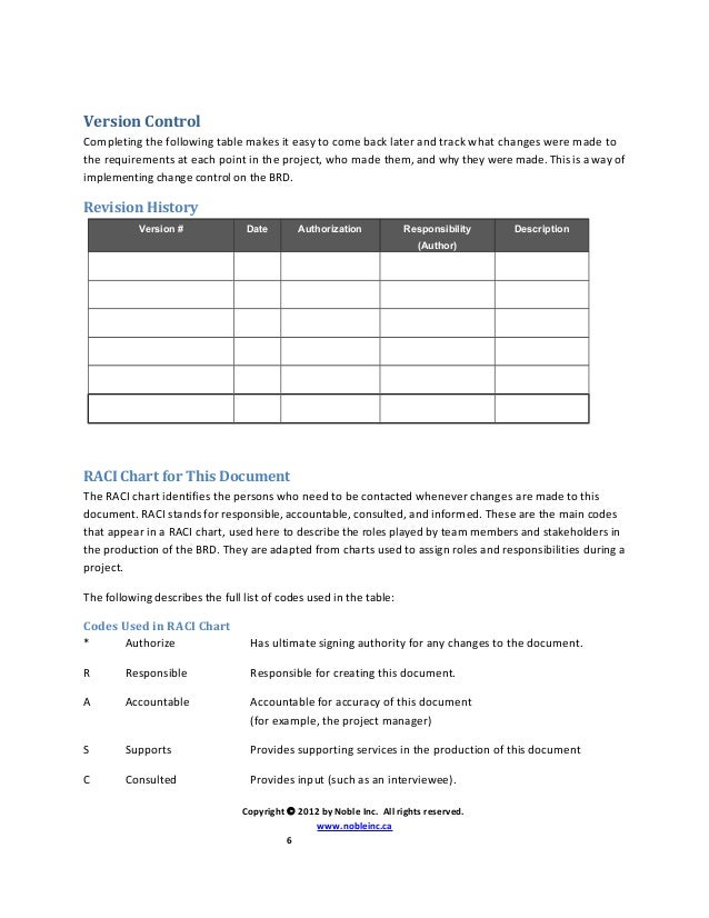 table document template