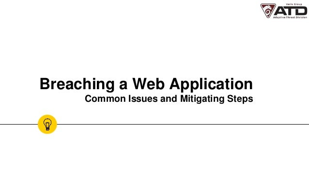 Breaching a Web Application Common Issues and Mitigating Steps