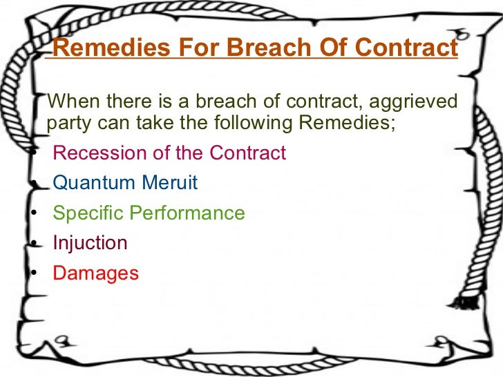 Breach Of Contract (1)