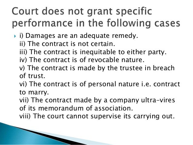 Breach Of Contract And Its Remedies Indian Contract Act