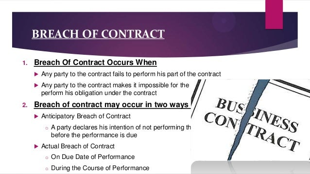 Remedies Of Breach Of Contract(Law)