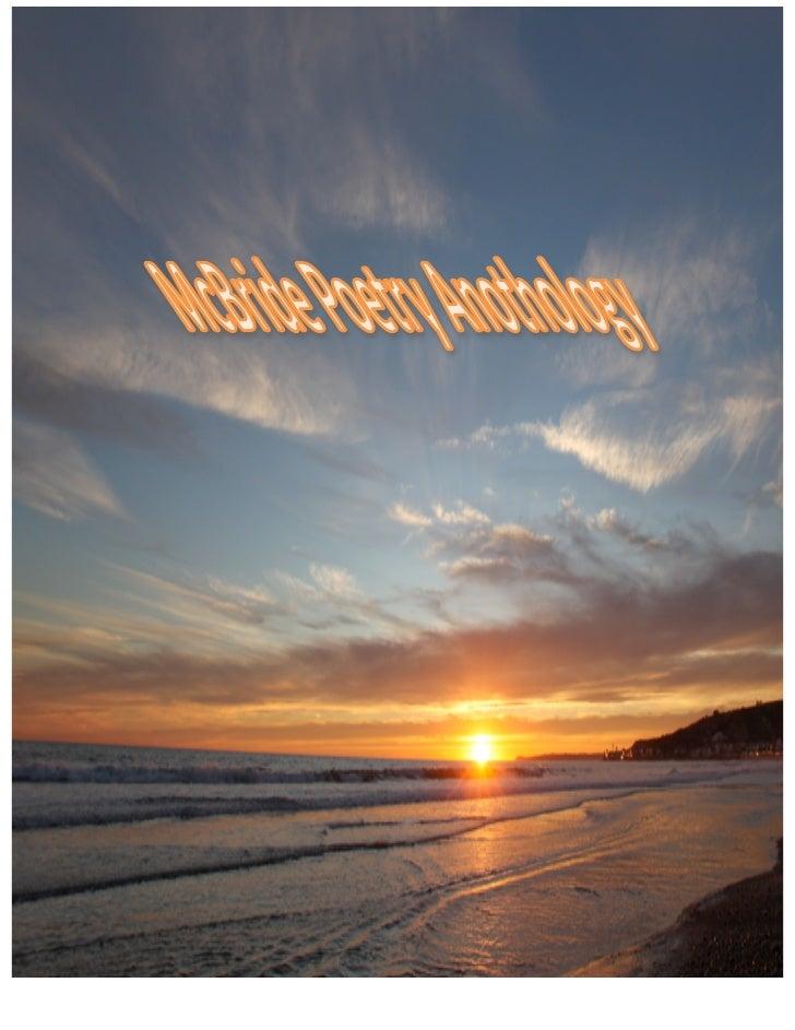 McBride Poetry Anthology Slide 1
