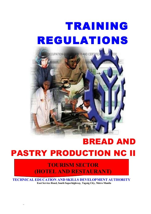 Bread & Pastry Production NC II in the Philippines