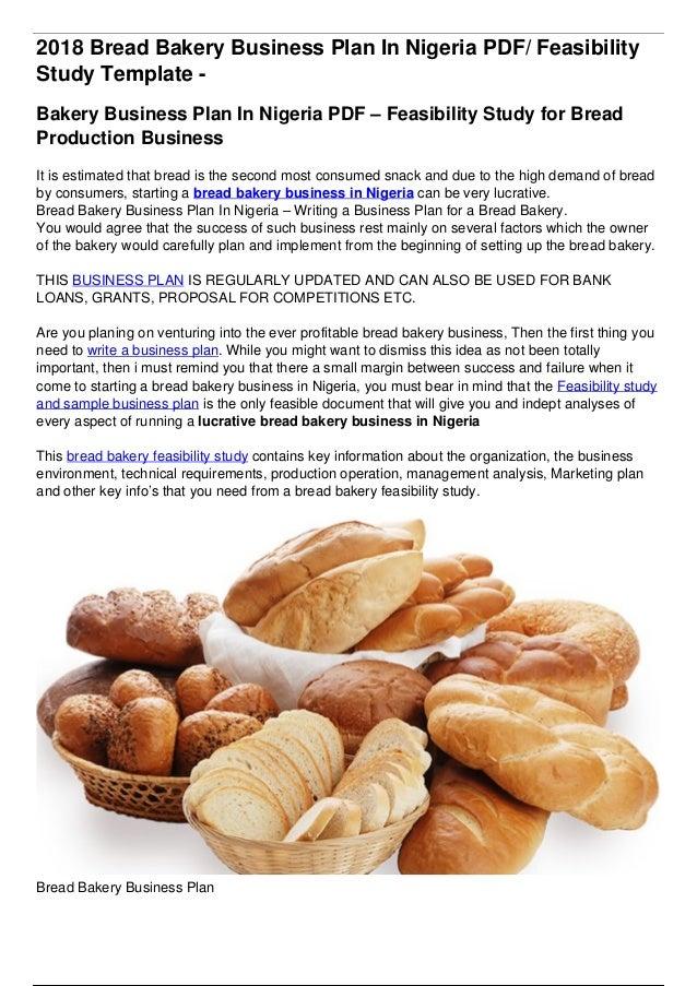 Bread Bakery Business Plan In Nigeria
