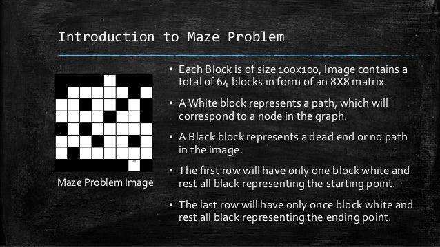 Breadth first algorithm for solving Image based maze problem