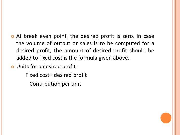 break even output Break-even price is the price a company must sell its product at given a particular volume of production calculating the break-even price helps the company determine the price it will need to charge.