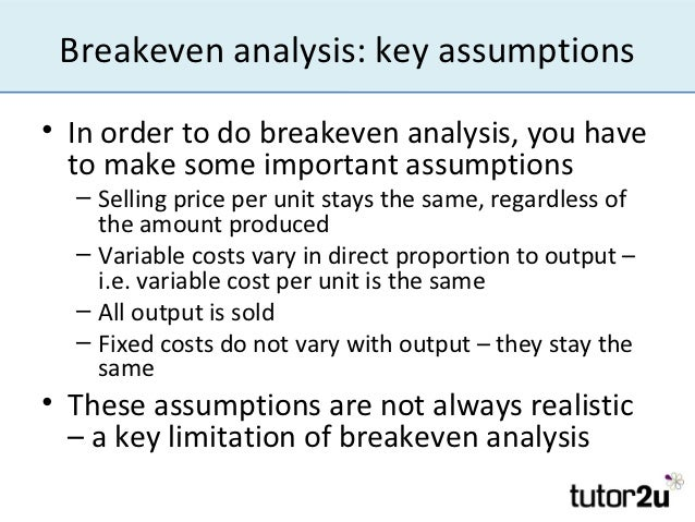 Breakeven Analysis Introduction