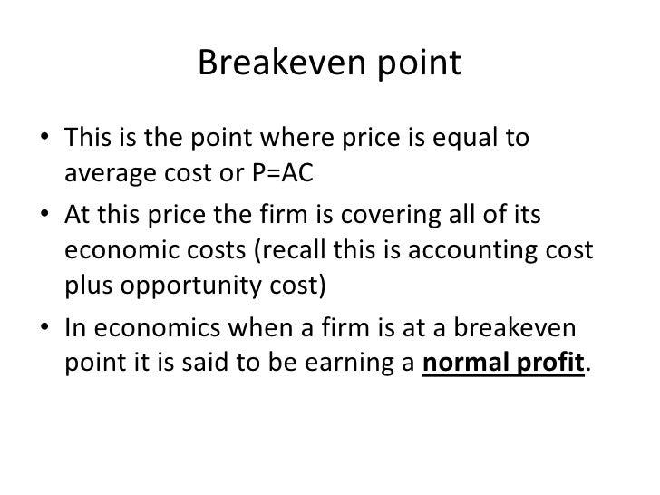 Breakeven Pointu2022 ...  Define Breakeven Analysis