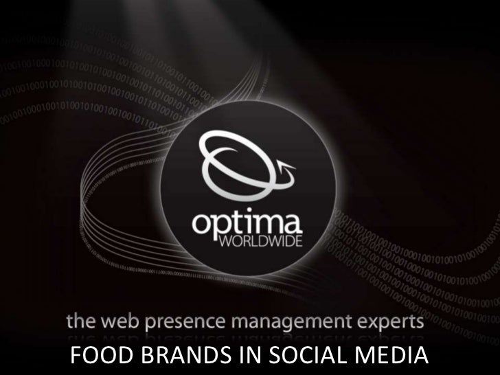Cool Optima Image HereFOOD BRANDS IN SOCIAL MEDIA