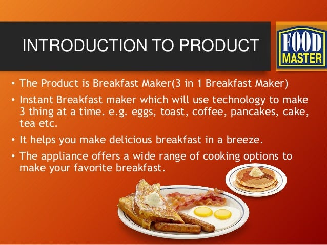 breakfast maker business plan