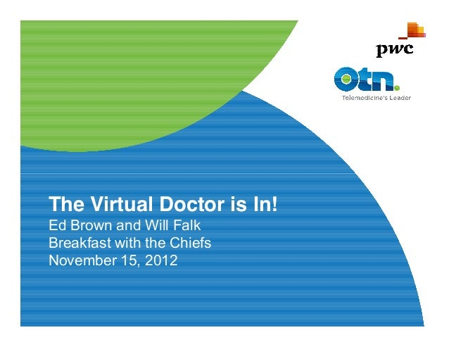 The Virtual Doctor is In!Ed Brown and Will FalkBreakfast with the ChiefsNovember 15, 2012