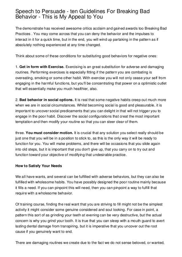 how to break bad social habits