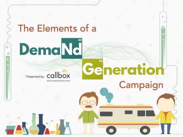 "The Elements of a  Demo Nd  collbgx Ge neratio  Campaign  I""?   SMESJ IloB(ETTNG&')(llT70NS"