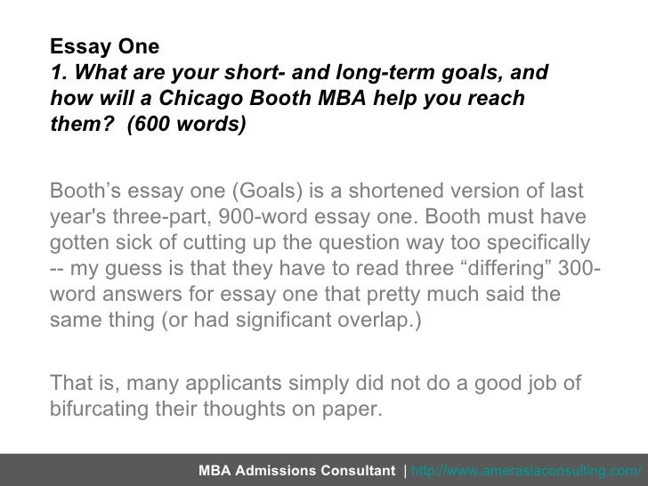 chicago booth mba essay questions 2012 Chicago booth 2011-2012 mba application essays this post is on the university of chicago booth's mba application essays for essay question effectively.