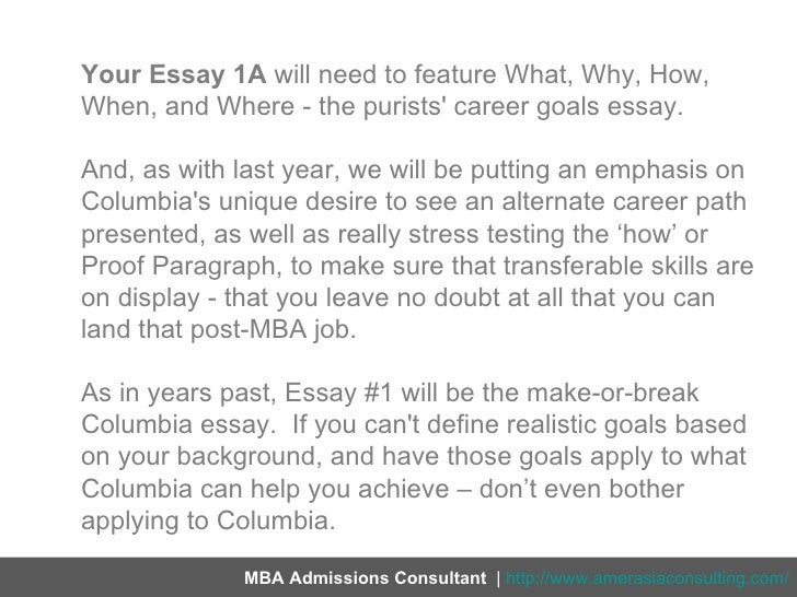 post mba career goals essays   personal mba coach post mba career goals essays