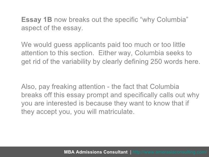 Columbia university admissions essay