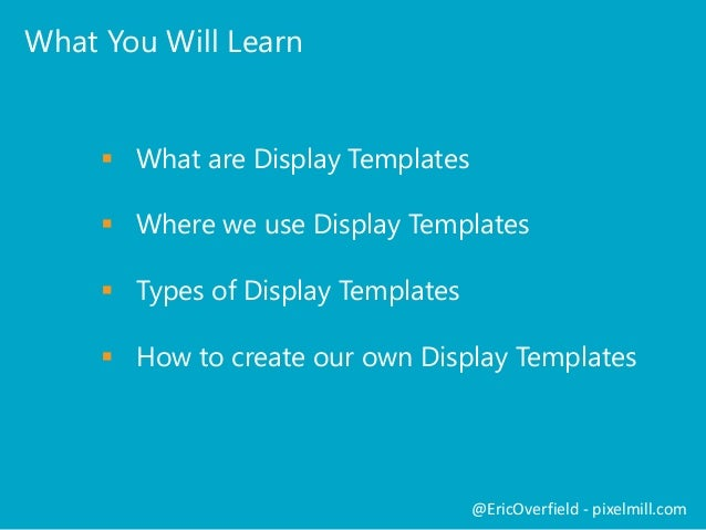 Breaking Down Display Templates in SharePoint 2013 Slide 3