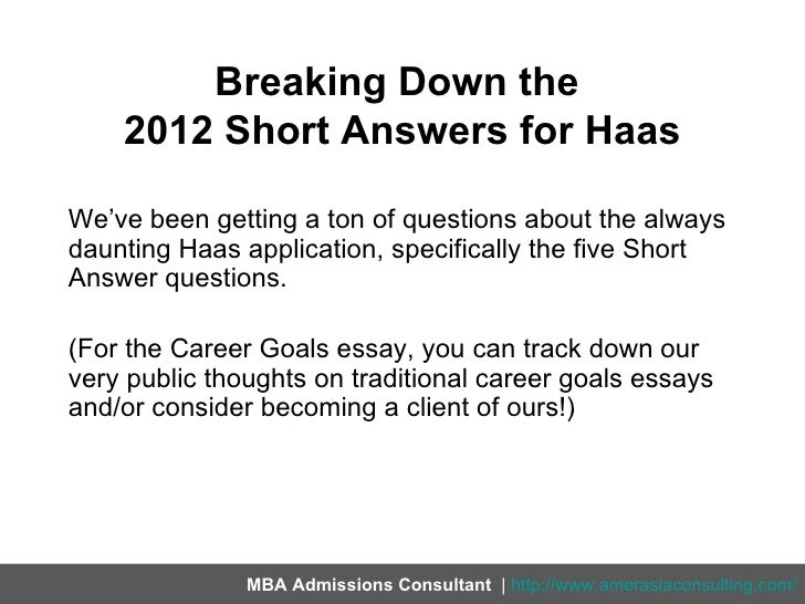 haas essay questions Free essay: rohm and haas case write-up problem statement rohm and haas have a great product with the potential to make millions of dollars however the end.
