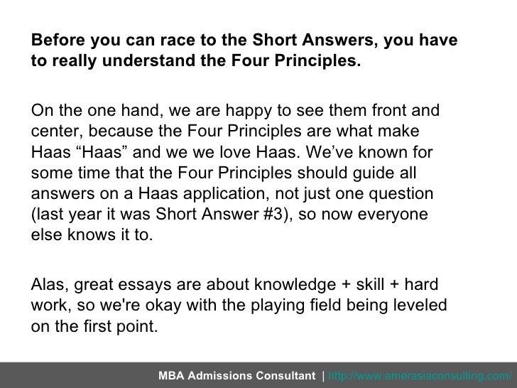 haas application essays