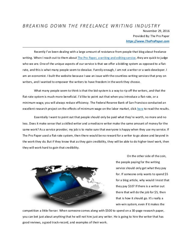breaking down the freelance writing industry paper writing blog ar