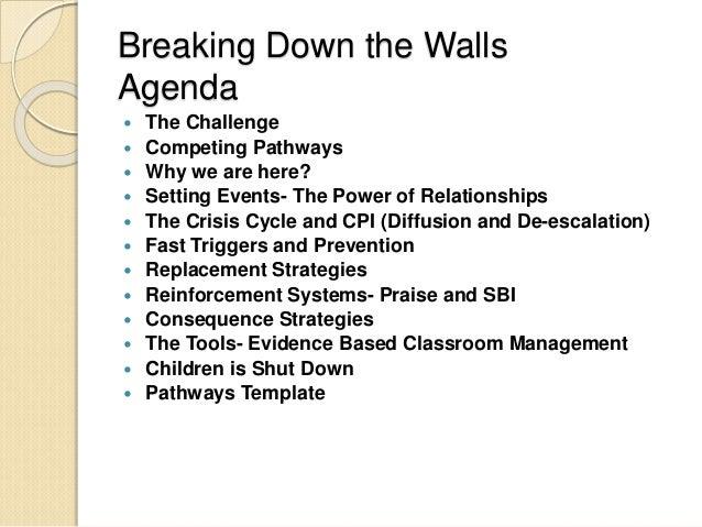 relationship walls breaking down scar