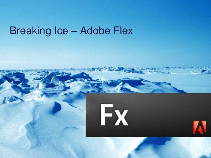Breaking Ice – Adobe Flex<br />