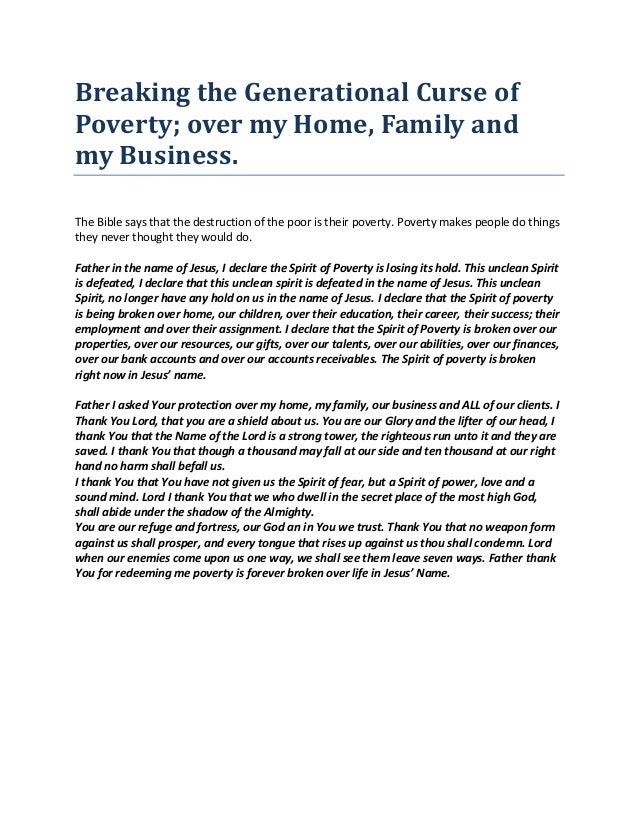 Breaking the generational curse of poverty