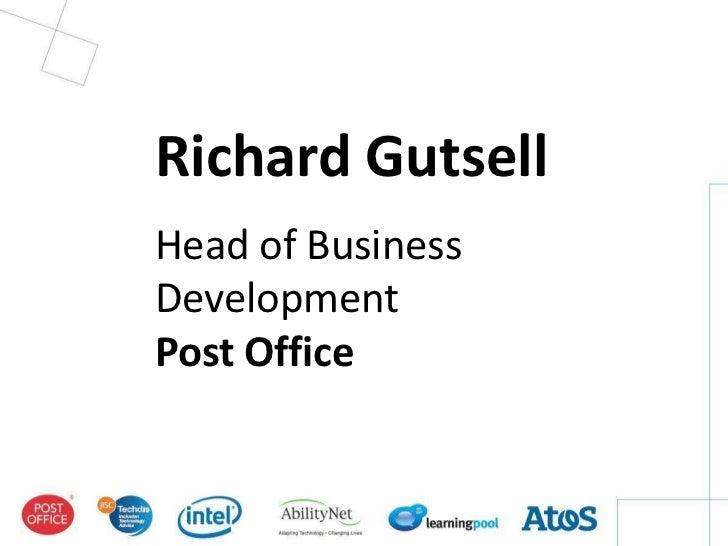 Richard GutsellHead of BusinessDevelopmentPost Office