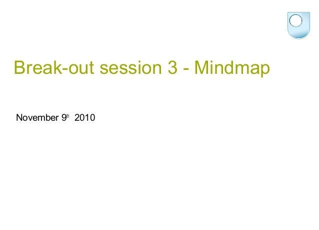 Break-out session 3 - Mindmap November 9th 2010