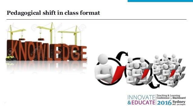 Pedagogical shift in class format 7
