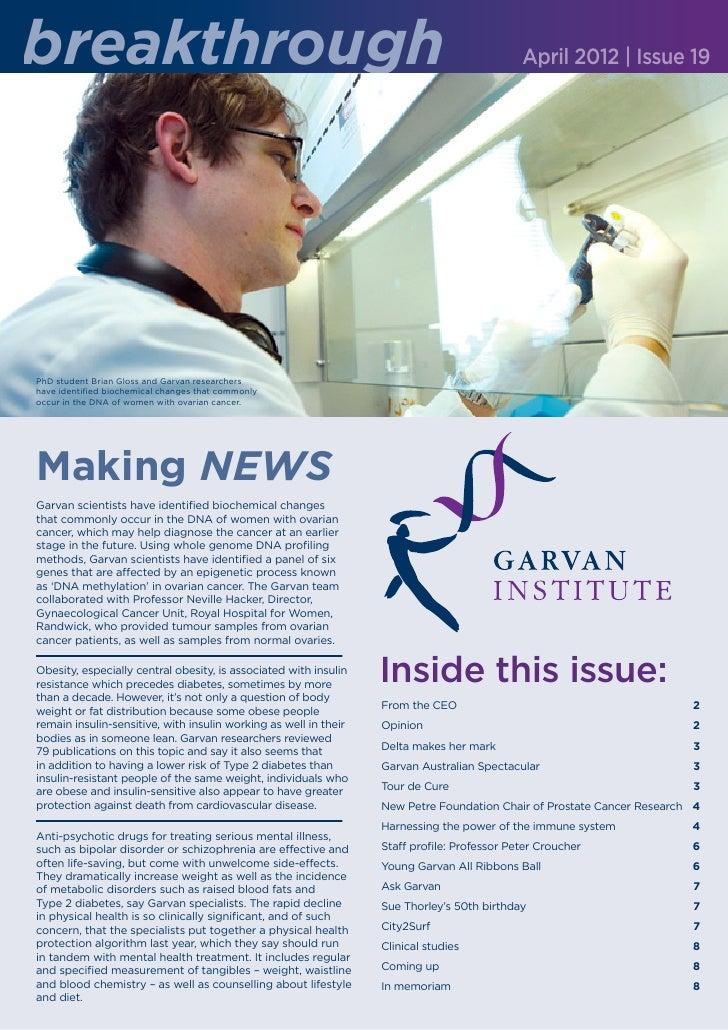 breakthrough                                                                                 April 2012 | Issue 19PhD stud...