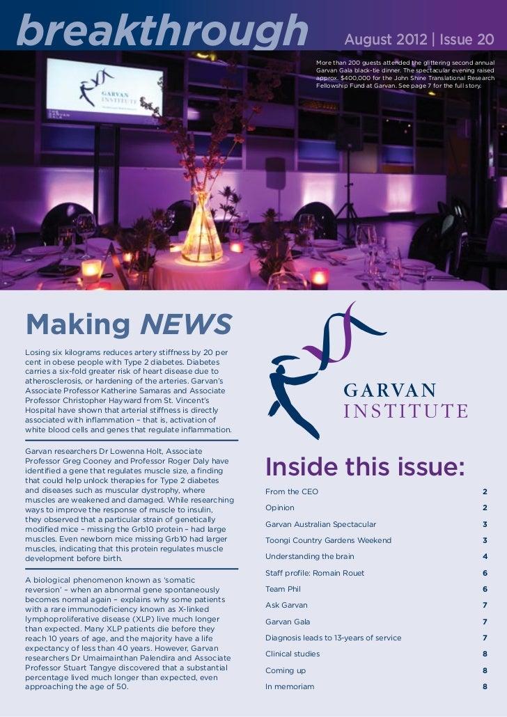 breakthrough                                                                     August 2012 | Issue 20                   ...