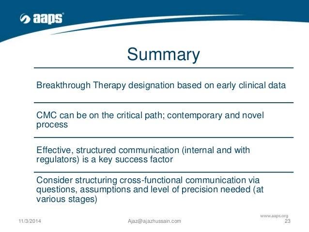Breakthrough Therapy Designation >> Breakthrough Designation Opportunities Challenges Aaps 2014