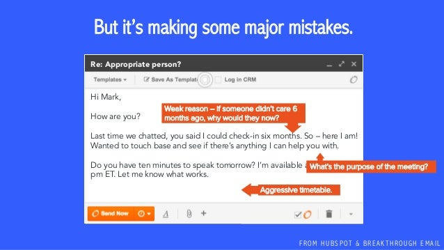 F R O M H U B S P OT & B R E A K T H R O U G H E M A I L But it's making some major mistakes. Hi Mark, How are you? Last t...