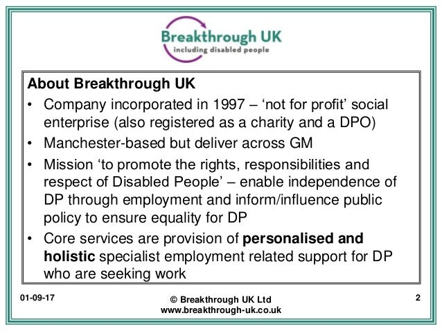 Employing Disabled People - Why it's good for business? Slide 2