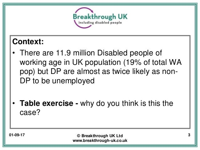 Employing Disabled People - Why it's good for business? Slide 3