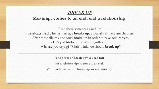 what a relationship break means