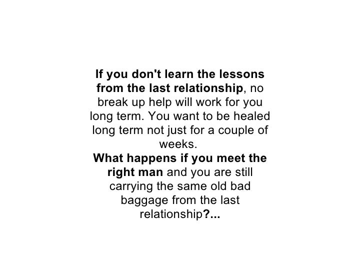 How to deal with break up long term relationship