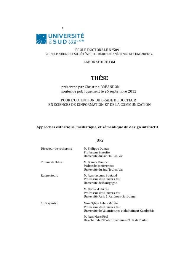 s                             ÉCOLE DOCTORALE N°509      « CIVILISATIONS ET SOCIÉTÉS EURO-MÉDITERRANÉENNES ET COMPARÉES » ...