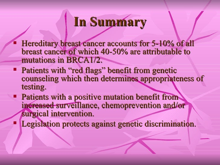 Hereditary breast cancer the implications of