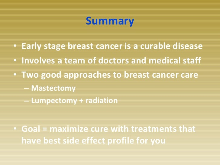 Early Stage Breast Cancer And Radiation Therapy