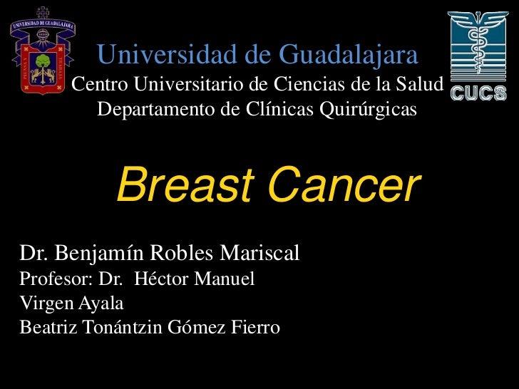 Universidad de Guadalajara     Centro Universitario de Ciencias de la Salud       Departamento de Clínicas Quirúrgicas    ...
