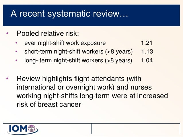 night shift work and cancer risk a literature review