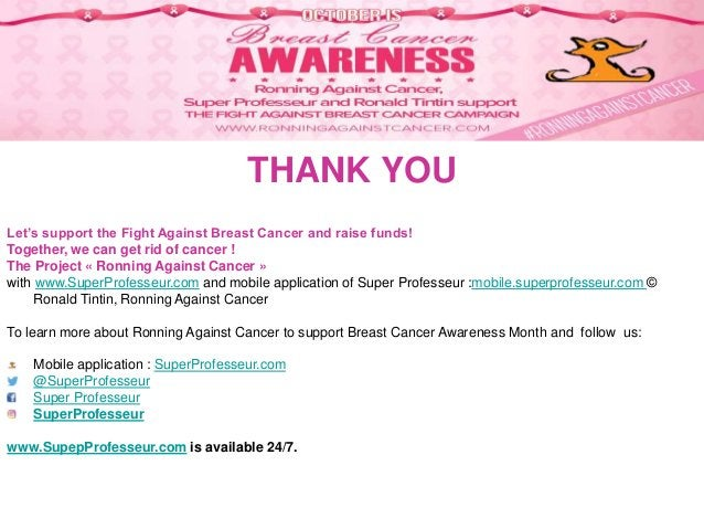 Follow www.SuperProfesseur.com on Twitter, Facebook, Instagram… THANK YOU Let's support the Fight Against Breast Cancer an...