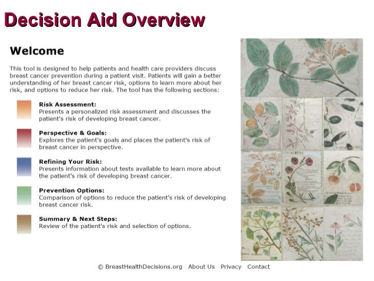 Breast cancer decision aid