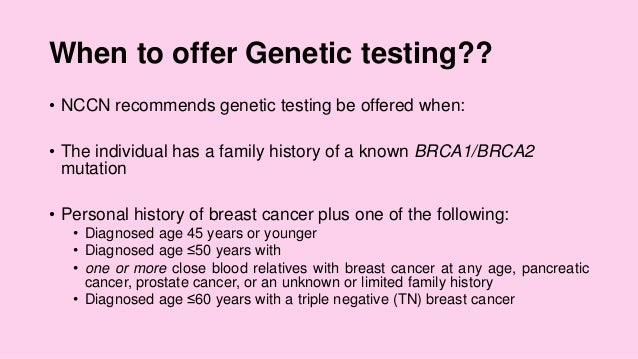 Breast Cancer Screening Prevention And Genetic Counselling