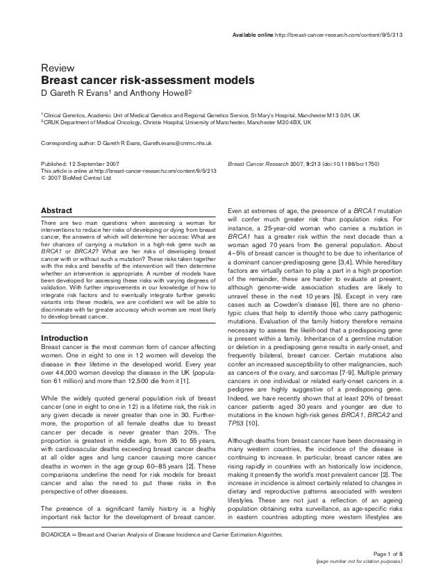 Page 1 of 8 (page number not for citation purposes) Available online http://breast-cancer-research.com/content/9/5/213 Abs...