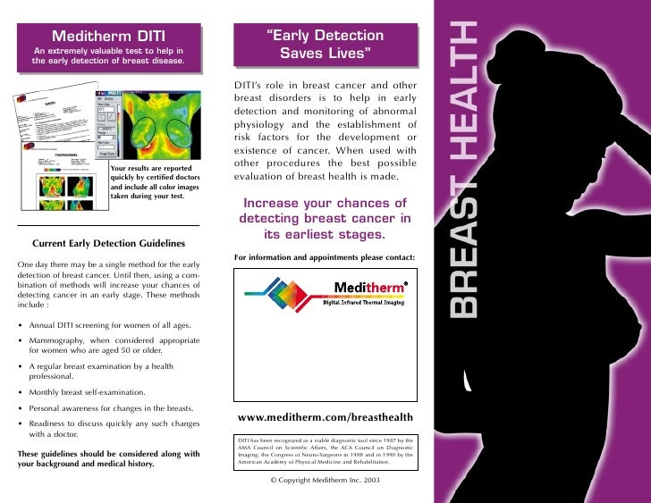 """Meditherm DITI                                             """"Early Detection      An extremely valuable test to help in    ..."""