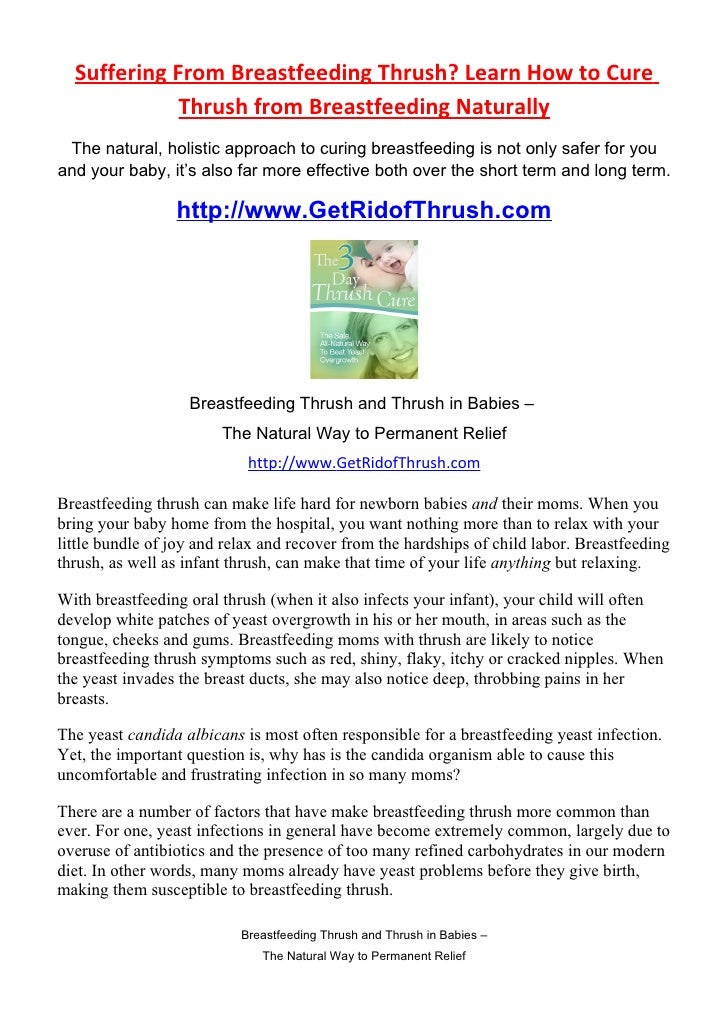 Breastfeeding Thrush How To Cure Breastfeeding Thrush Naturally
