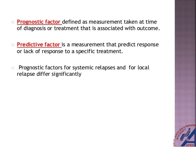 PROGNOSTIC AND PREDICTIVE FACTORS FOR METASTATIC CARCINOMA BREAST Slide 3